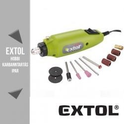 EXTOL CRAFT mini köszörű és fúrógép 12 V, 12000 ford/perc + tartozékok – 404120