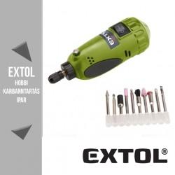 EXTOL CRAFT mini köszörű és fúrógép 18 V(DC), 7 W, 15000 ford/perc + tartozékok – 404121