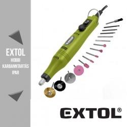 EXTOL CRAFT mini köszörű és fúrógép 18 V(DC), 18 W, 22000 ford/perc + tartozékok – 404122