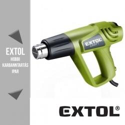 EXTOL CRAFT két fokozatú hőlégfúvó 1000 / 2000 W, 350 / 550 °C + koffer + tartozékokkal – 411023