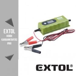 EXTOL CRAFT mikroprocesszoros intelligens autós akkutöltő 4-120 Ah – 417300