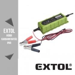 EXTOL CRAFT mikroprocesszoros intelligens autós akkutöltő 4-100 Ah – 417301