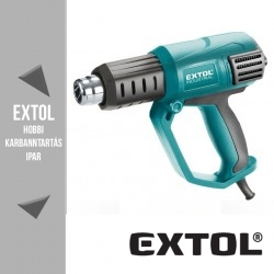EXTOL INDUSTRIAL két fokozatú hőlégfúvó 1000 / 2000 W, 50 / 650 °C – 8794800