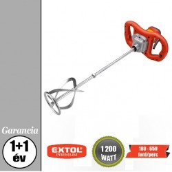 EXTOL PREMIUM elektromos festék- és habarcskeverő gép 1200 W, 180-650 ford/perc – 8890600