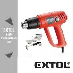 EXTOL PREMIUM két fokozatú hőlégfúvó pisztoly 2000 W, 50-450 / 90-600 °C – 8894801