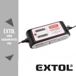 EXTOL PREMIUM mikroprocesszoros intelligens autós akkutöltő 4-160 Ah – 8897301