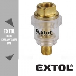 "EXTOL PREMIUM mini levegőolajozó max. 6,2 bar, 1/4"",  – 8865102"