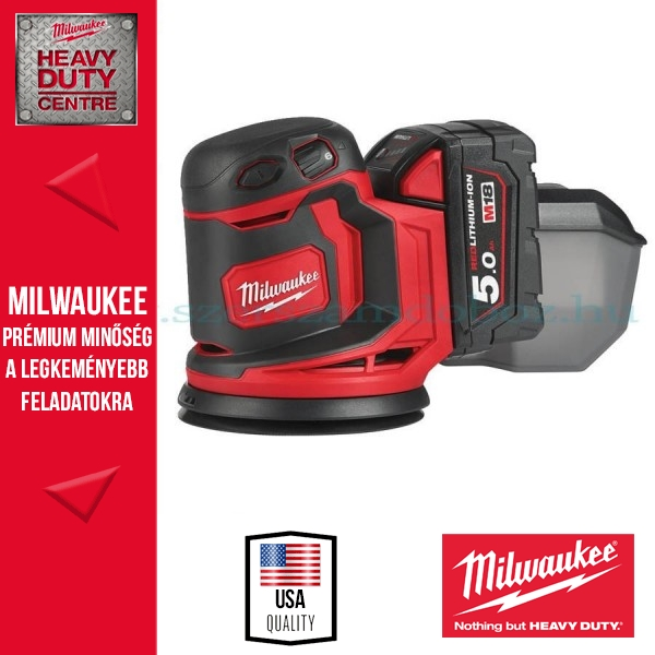 Milwaukee M18 BOS125-502B 125 MM-ES EXCENTER CSISZOLÓGÉP