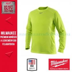 Milwaukee WWLSY hosszú ujjú póló - láthatósági (S)