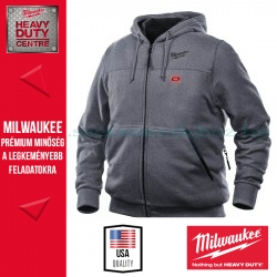 Milwaukee M12 HH GREY3-0 FŰTHETŐ KAPUCNIS PULÓVER-SZÜRKE (2XL)