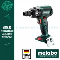 Metabo SSW 18 LTX 400 BL AKKUS ÜTVECSAVAROZÓ ALAPGÉP (METALOC KOFFERBEN)
