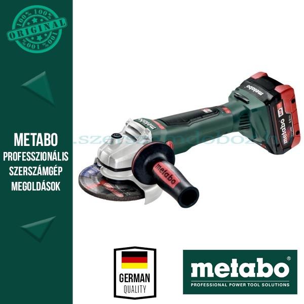 METABO WB 18 LTX BL 125 QUICK AKKUS SAROKCSISZOLÓ (2x LiHD 8.0 Ah)