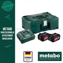 METABO Alapkészlet 2 db 4,0 Ah Li-Power akku+ ASC30-36V töltő, Metaloc koffer