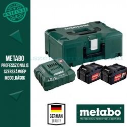 METABO Alapkészlet 2 db 5,2 Ah Li-Power akku + ASC30-36V töltő, Metaloc koffer