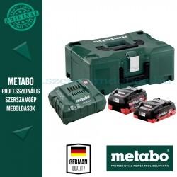 METABO Alapkészlet 1 db 4,0 Ah LiHD,1db 5,5Ah LiHD akku + ASC30-36V töltő, Metaloc koffer