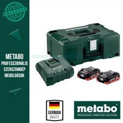 METABO Alapkészlet 2 db 4,0 Ah  LiHD + 1 db  ASC Ultra töltő, Metaloc koffer