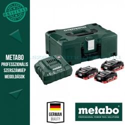 METABO Alapkészlet 3 db 4,0 Ah  LiHD akku + ASC 30-36 töltő, Metaloc koffer