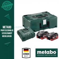 METABO Alapkészlet 2 db 5,5 Ah LiHD akku  + ASC30-36 töltő, Metaloc koffer