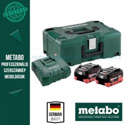 METABO Alapkészlet 2 db 8,0 Ah LiHD akku + ASC Ultra töltő, Metaloc koffer