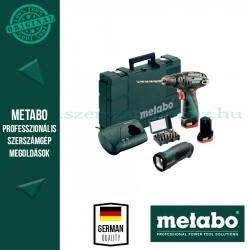Metabo PowerMaxx SB Basic Set Akkus ütvefúró + TLA LED  + BitBox 15 részes