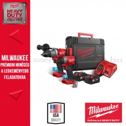 MILWAUKEE M18 ONEPP2A2-502X ERŐCSOMAG (ONE-KEY™ M18 ONEPD2 FUEL™ ONE-KEY™ ÜTVEFÚRÓ-CSAVAROZÓ + M18 ONEID2 ONE-KEY™ FUEL™ ¼˝ HEX