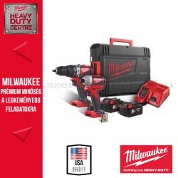MILWAUKEE M18 BLPP2A2-502X SZÉNKEFE NÉLKÜLI ERŐCSOMAG (M18 BLPD2 szénkefe nélküli ütvefúró-csavarozó + M18 BLID2 szénkefe nélkül