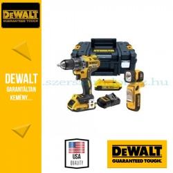 DEWALT DCD791D2F szénkefe nélküli akkus fúró- csavarozó + lámpa