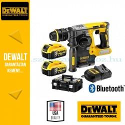 DEWALT DCH273P2B 18V XR Li-Ion kefe nélküli 3 üzemmódú fúrókalapács Bluetooth akkumulátorral készletben\r\n