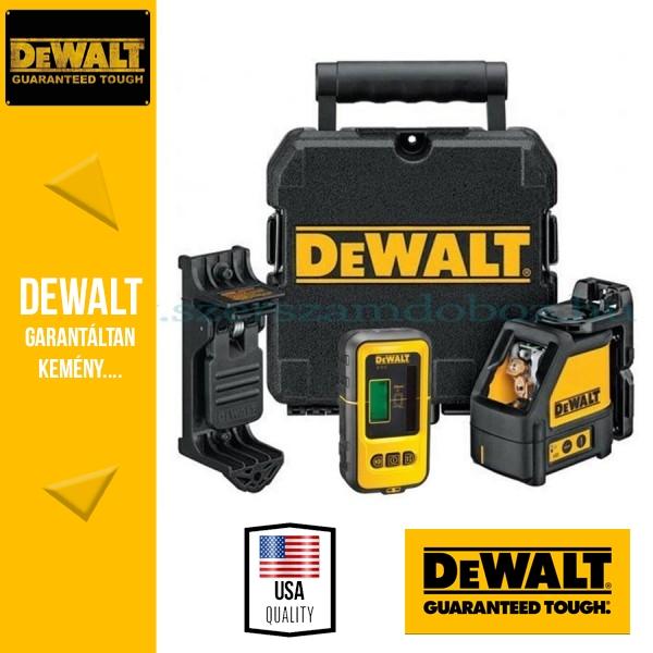 DEWALT DW088KD-XJ önbeálló vonallézer (Vízszintes és Függőleges) DE0892 jelfogóval
