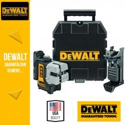 DEWALT DW089KD-XJ Önbeálló 3 keresztszálas vonallézer (Vízszintes,Függőleges,Oldalvonalak) DE0892 jelfogóval