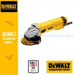 DEWALT DWE4206-QS Sarokcsiszoló, Ø115mm, 1000W, oldalsó áramkimaradás kapcsoló, porkilökő rendszer