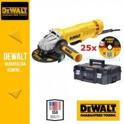 DEWALT DWE4233KT-QS 1400W 125mm Sarokcsiszoló szett\r\n