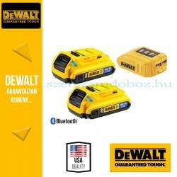 DEWALT DCB283BC-XJ 2 x DCB183B 18V XR 2.0Ah Bluetooth akkumulátor DCB090 USB adapterrel