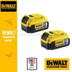 DEWALT DCB284B-XJ  2 x DCB184B 18V XR 5.0Ah Bluetooth akkumulátor