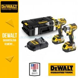 DEWALT DCK250P2-QW 18V XR Li-Ion kefe nélküli Combopack DCD795 Kefe-nélküli Ütvefúró-csavarozó + DCF886 Kefe-nélküli Ütvecsavaro