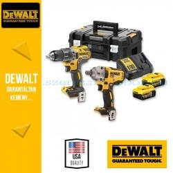 DEWALT DCK2077P2T-QW 18V XR Combo KIT (DCD791 kefe nélküli kompakt fúró-csavarozó + DCF894 ütvecsavarozó)