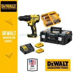 DEWALT DCD777D2K-QW 18V XR Combo KIT (DCD777 Fúrócsavarozó + DT71501 56 db-os, Fúró és csavarbehajtó bitkészlet)