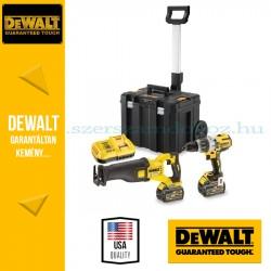 DEWALT DCK2057T2T-QW Combo KIT (DCD996 kefe nélküli prémium ütvefúró-csavarozó + DCS388 54V XR FlexVolt Kardfűrész)