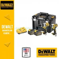 DEWALT DCK276T2T-QW 18V XR Combo KIT (DCD996 kefe nélküli prémium ütvefúró-csavarozó + DCF887 kefe nélküli 3 sebességes ütvecsav