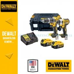 DEWALT DCK266P2T-QW 18V XR Combo KIT (DCD796 kefe nélküli kompakt ütvefúró-csavarozó + DCF887 kefe nélküli 3 sebességes ütvecsav