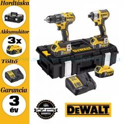 DEWALT DCK266P3-QW 18V XR Combo KIT (DCD796 kefe nélküli kompakt ütvefúró-csavarozó + DCF887 kefe nélküli 3 sebességes ütvecsava