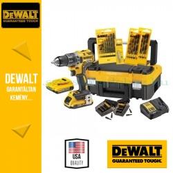 DEWALT DCK791D2T-QW 18V XR Combo KIT (DCD791 kefe nélküli kompakt fúró-csavarozó + töltő + 2x2.0Ah akku + koffer)