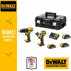 """DEWALT DCK2060S3T-QW 18V XR Combo KIT (DCD778 fúrócsavarozó + DCF787 1/4""""  Ütvecsavarozó)"""
