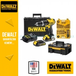 DEWALT DCD778S2K-QW 18V XR Combo KIT (DCD778 + 2x akku + töltő + 2x koffer)