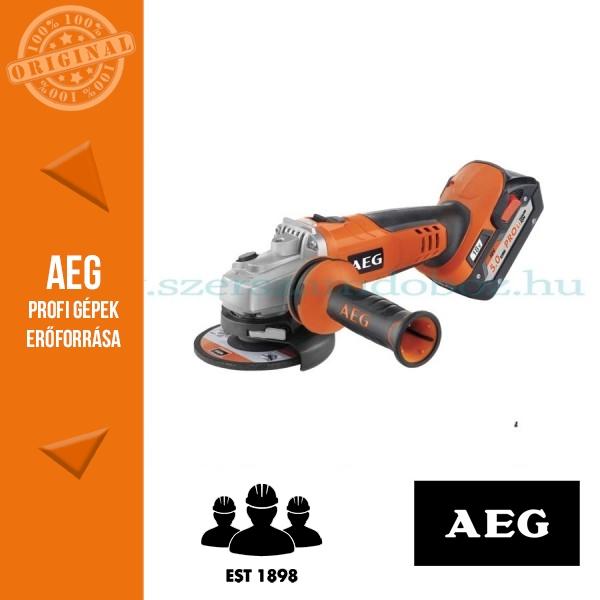 AEG BEWS 18-125BL-502C 18V SAROKCSISZOLÓ 125mm