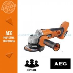 AEG BEWS 18-125BL-0 18V SAROKCSISZOLÓ 125mm ALAPGÉP