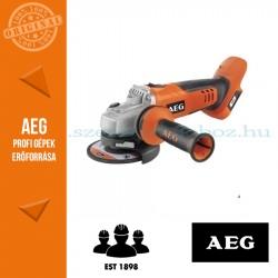 AEG BEWS 18-115 BL PX-0 18V SZÉNKEFE NÉLKÜLI SAROKCSISZOLÓ 115mm ALAPGÉP