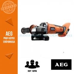 AEG BEWS 18-125 BL PX-0 18V SZÉNKEFE NÉLKÜLI SAROKCSISZOLÓ 125mm ALAPGÉP