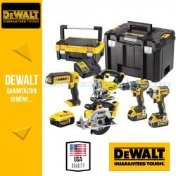 DEWALT DCK551P3T-QW 18V XR 4 gépes akkus gépcsomag + lámpa