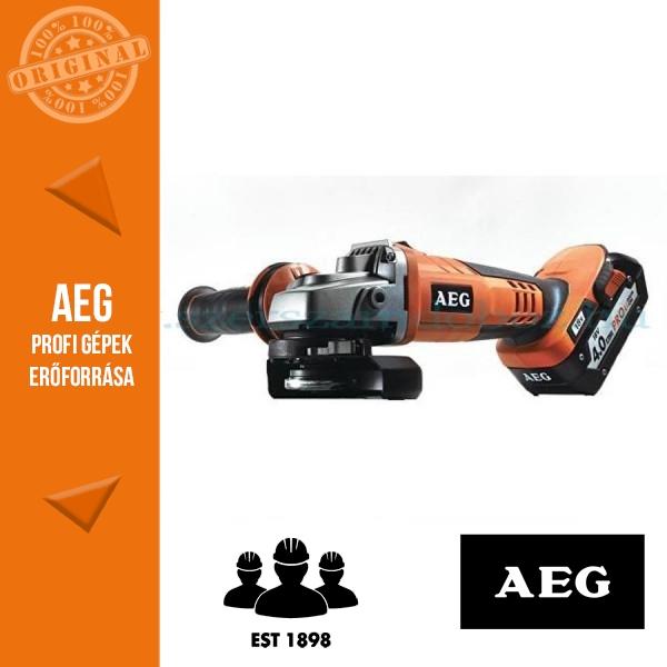 AEG BEWS 18-125X LI-401B  18V sarokcsiszoló